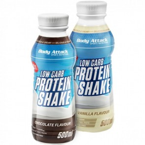 Body Attack Low Carb Protein Shake (6x500ml)