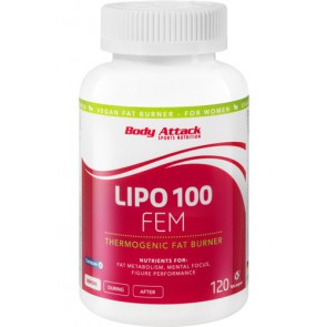 Body Attack Lipo Fem 120 Kapsel