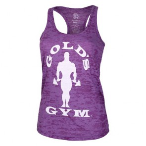 Gold´s Gym CSSILBOT  - Ladies Silhouette Burnout Tank - purple