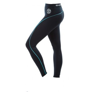 Gold´s Gym GGLPNT023  - Ladies Long Tight Pants - black/turq
