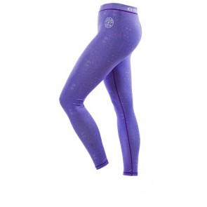 Gold´s Gym GGLPNT048  - Ladies Pattern Printed Long Tight Pants - lilac