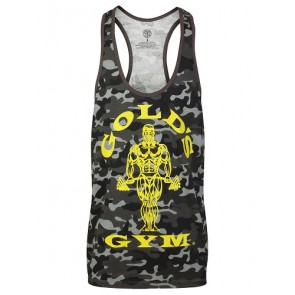 Gold´s Gym GGVST051 Muscle Joe Premium Tank Camo - black