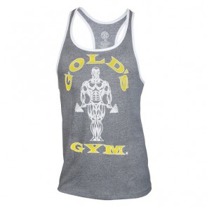 Gold´s Gym Muscle Joe Contrast Stringer Tank - Hellgrau
