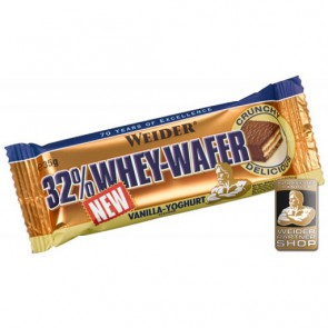 Weider 32% Whey Wafer 24x Riegel