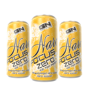 GN Narc Focus Ice Tea Peach - 24x 250ml Dosen