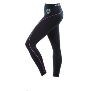 Gold´s Gym GGLPNT023  - Ladies Long Tight Pants - black/pink