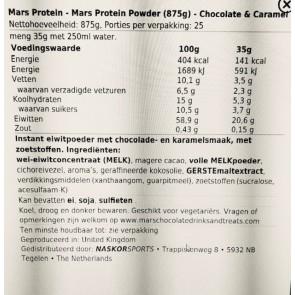 Mars Protein Powder (875g)