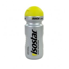 Isostar Wasserflasche / Trinkflasche 650ml - Kappe Gelb