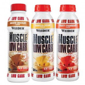 Weider Muscle Low Carb Drink, (6x500 ml)
